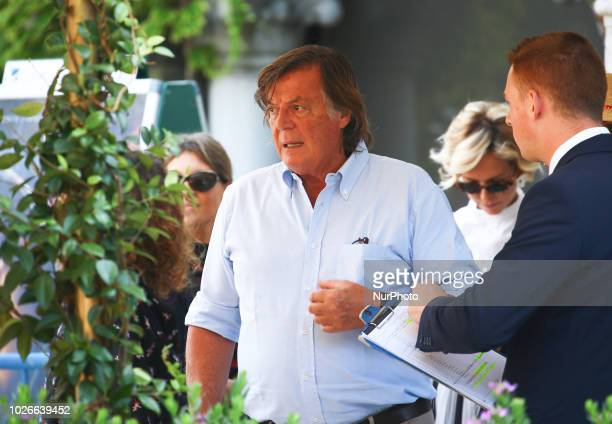 Adriano Panatta is seen during the 75th Venice Film Festival on September 4 2018 in Venice Italy