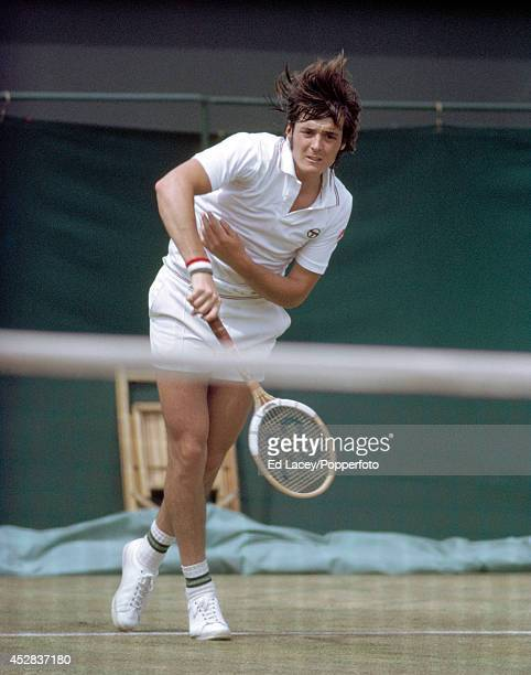 Adriano Panatta of Italy in action during the Queen's Club Tennis Championships in London on 19th June 1973