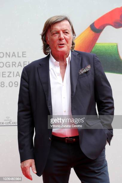 Adriano Panatta walks the red carpet ahead of the 'The Armadillo's Prophecy ' screening during the 75th Venice Film Festival at Sala Darsena on...