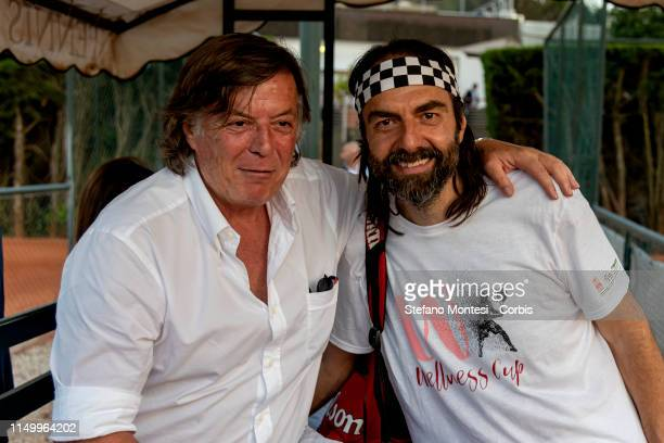 Adriano Panatta with Neri Marcoré attends in the first edition of the Wellness cup at the Tennis Club Parioli on June 13 2019 in Rome Italy The...