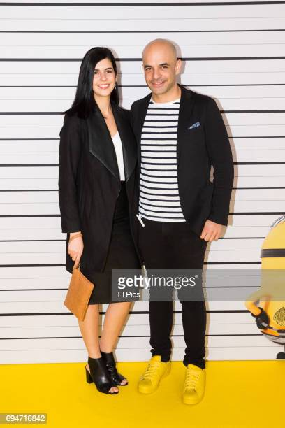 Adriano Zumbo and girlfriend Nelly Riggio attend the Despicable Me 3 Premiere at Entertainment Quarter on June 10 2017 in Sydney Australia