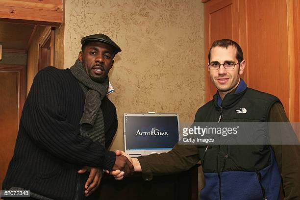 Adrias visits the ActorGearcom display at the Gibson Gift Lounge during the 2005 Sundance Film Festival on January 26 2005 in Park City Utah
