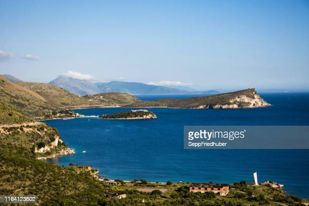 adriatic coast in albania - albania stock pictures, royalty-free photos & images