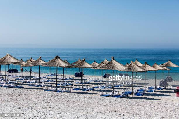 adriatic coast in albania - tourismus stock pictures, royalty-free photos & images