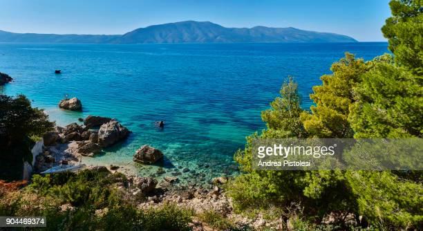 adriatic coast near vlore, albania - アルバニア ストックフォトと画像