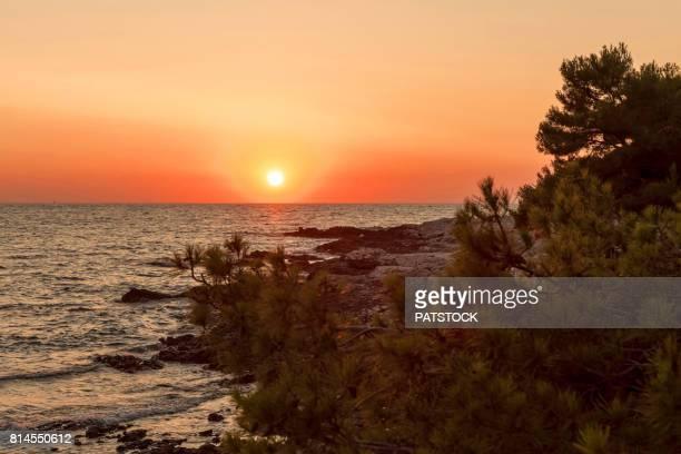 adriatic sea sunset - アドリア海 ストックフォトと画像