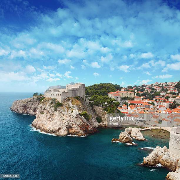 adriatic sea town, dubrovnic, croatia, europe. - croatia stock pictures, royalty-free photos & images
