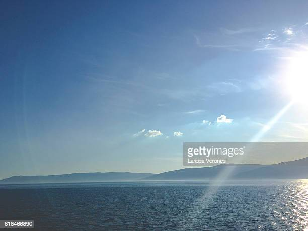 Adriatic sea with Croatian coastline