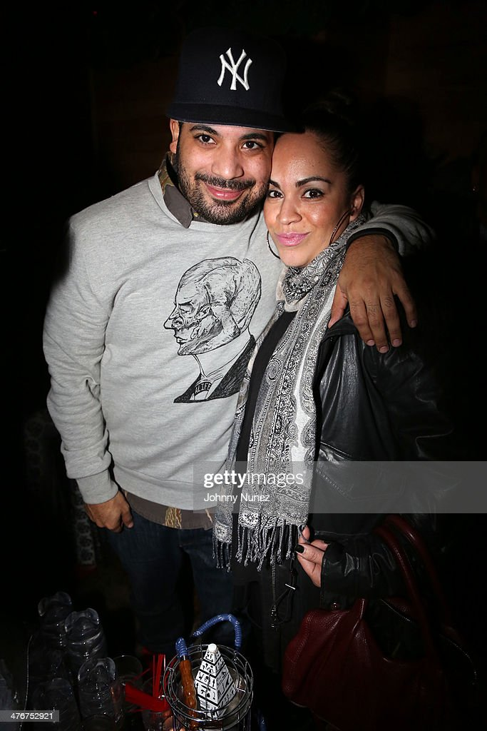 Adriel Ortiz and music executive Marleny Dominguez attend the 'Mastermind' Album Release Party at Greenhouse on March 4, 2014 in New York City.
