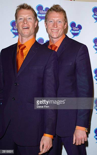 Adrien and Neil Rayment attend the 'Disney Channel Kids Awards 2003' held at the Royal Albert Hall September 20 2003 in London England