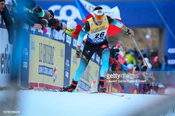 Adrien Backscheider of France competes during the FIS Nordic World Cup Men's and Women's Cross Country Final Climb on January 6, 2019 in Val Di...