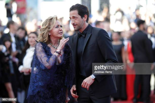 Adrien Brody and artistic Director and CoPresident of Chopard Caroline Scheufele attend the Closing Ceremony screening of 'The Man Who Killed Don...