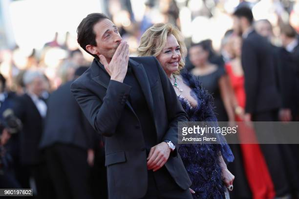 Adrien Brody and Caroline Scheufele attend the screening of Closing Ceremony 'The Man Who Killed Don Quixote' during the 71st annual Cannes Film...