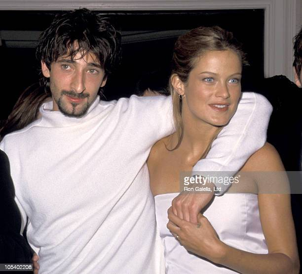 Adrien Brody and Carolyn Murphy during Liberty Heights PreScreening Dinner Party at 21 Club in New York City New York United States