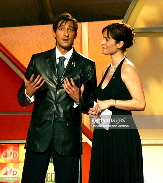 Adrien Brody and CarrieAnne Moss presenting the award for Best Supporting Female