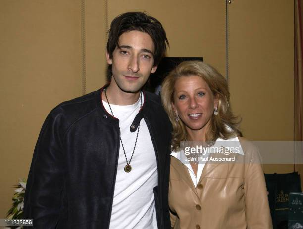 Adrien Brody and designer Leslie Greene during HBO Golden Globes Luxury Lounge Produced By Mediaplacement at The Peninsula Hotel in Beverly Hills,...