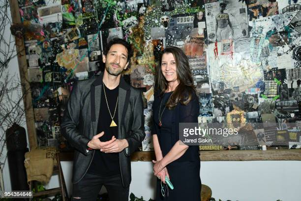 Adrien Brody and Dorothea Hurley attend Art New York on May 3 2018 at Pier 94 in New York City