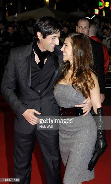 Adrien Brody and Elsa Pataky during The Times BFI London Film Festival ''Hollywoodland'' Inside at Odeon West End in London Great Britain
