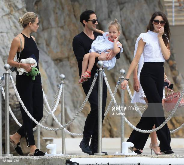 Adrien Brody and family are spotted during the 70th annual Cannes Film Festival at on May 18 2017 in Cannes France