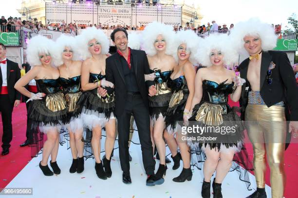 Adrien Brody and guests during the Life Ball 2018 at City Hall on June 2 2018 in Vienna Austria The Life Ball an annual charity event raising funds...