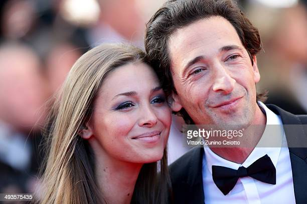 Adrien Brody and his girlfriend Lara Leito attend the Closing Ceremony and A Fistful of Dollars screening during the 67th Annual Cannes Film Festival...