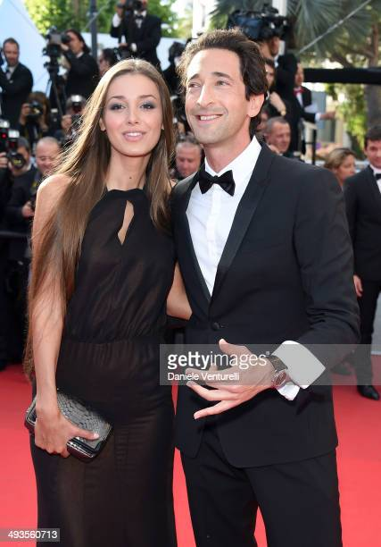 Adrien Brody and his girlfriend Lara Leito attends the Closing Ceremony and 'A Fistful of Dollars' Screening during the 67th Annual Cannes Film...