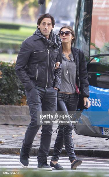 Adrien Brody and Lara Leito are seen on November 20 2012 in Madrid Spain