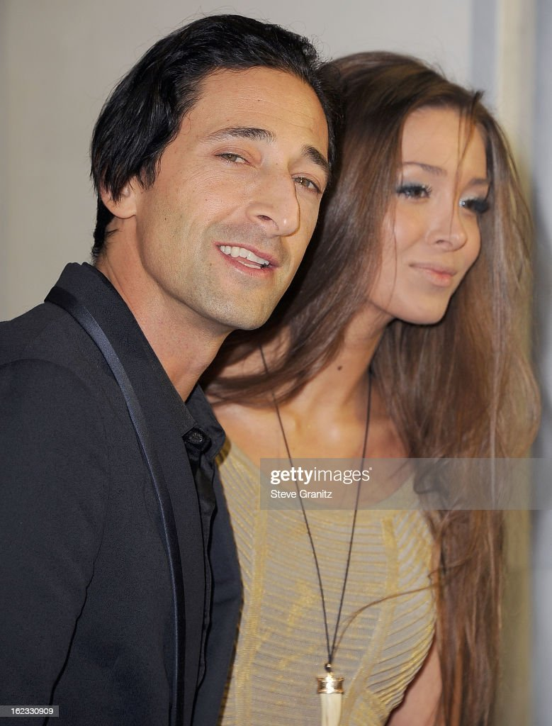 019607fd29e8c Adrien Brody and Lara Leito arrives at the Tom Ford Cocktails In ...