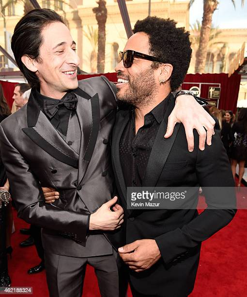 Adrien Brody and Lenny Kravitz attend TNT's 21st Annual Screen Actors Guild Awards at The Shrine Auditorium on January 25 2015 in Los Angeles...