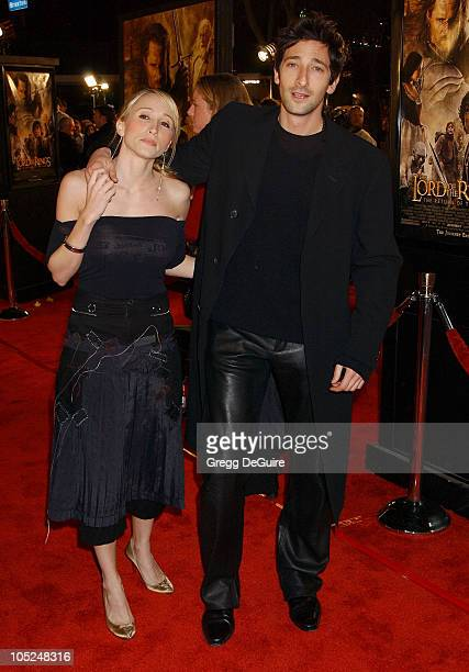 Adrien Brody and Michelle Dupont during 'The Lord Of The RingsThe Return Of The King' Los Angeles Premiere at Mann Village Theatre in Westwood...
