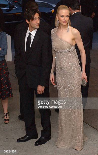Adrien Brody and Nicole Kidman during Costume Institute Benefit Dance 'Party of the Year' Arrivals at Metropolitan Museum of Art in New York City New...