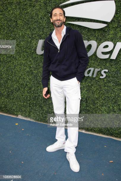 Adrien Brody at Day 13 of the US Open held at the USTA Tennis Center on September 8, 2018 in New York City.