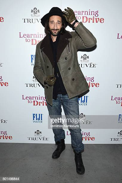 Adrien Brody attends A Celebration for Patricia Clarkson Presented by FIJI Water and Truvee Wines on December 15 2015 in New York City
