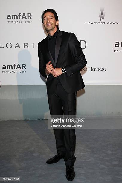 Adrien Brody attends amfAR's 21st Cinema Against AIDS Gala Presented By WORLDVIEW BOLD FILMS And BVLGARI at Hotel du CapEdenRoc on May 22 2014 in Cap...