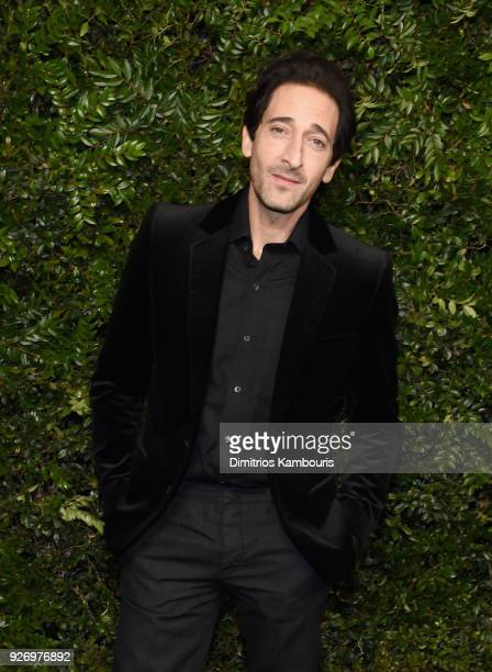Adrien Brody attends Charles Finch and Chanel PreOscar Awards Dinner at Madeo in Beverly Hills on March 3 2018 in Beverly Hills California
