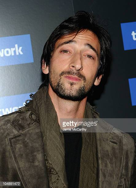 """Adrien Brody attends Columbia Pictures' and The Cinema Society's screening of """"The Social Network"""" at the School of Visual Arts Theater on September..."""