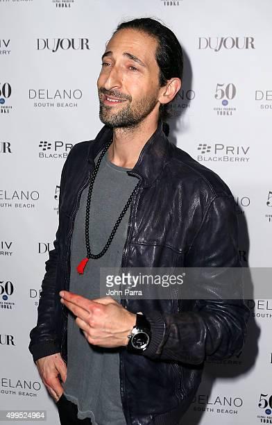 Adrien Brody attends DuJour magazine's Jason Binn Celebrates Annual Art Basel Miami Beach KickOff Party presented by Blackberry PRIV 50 Bleu at...