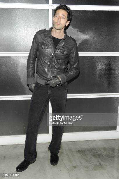 Adrien Brody attends LARRY GAGOSIAN hosts the ANDREAS GURSKY Opening Exhibition at GAGOSIAN GALLERY at Gagosian Gallery on March 4 2010 in Beverly...