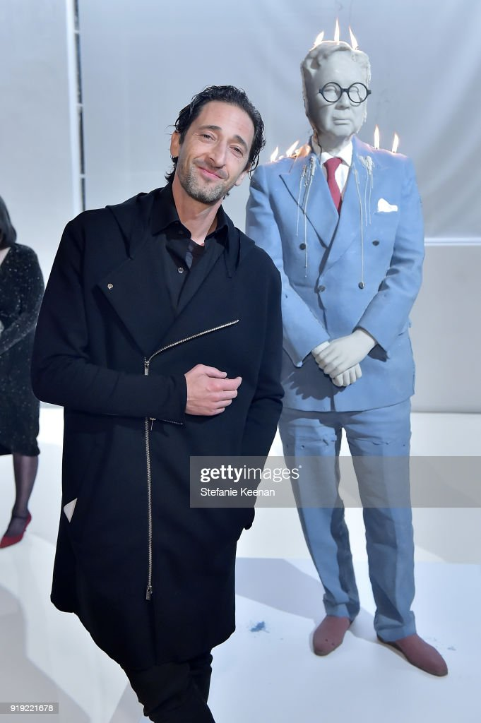 Adrien Brody attends Mr Chow 50 Years on February 16, 2018 in Vernon, California.