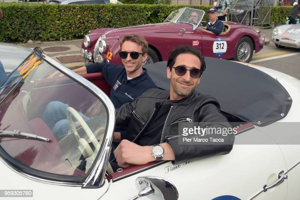 Adrien Brody attends the 1000 Miles Historic Road Race on May 16 2018 in Brescia Italy
