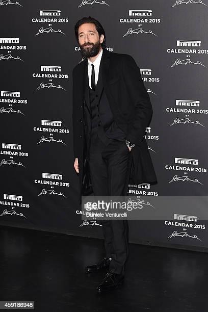Adrien Brody attends the 2015 Pirelli Calendar Red Carpet on November 18 2014 in Milan Italy