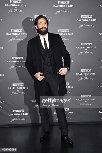 Adrien Brody attends the 2015 Pirelli Calendar Red Carpet on November 18 2014 in Milan Italy