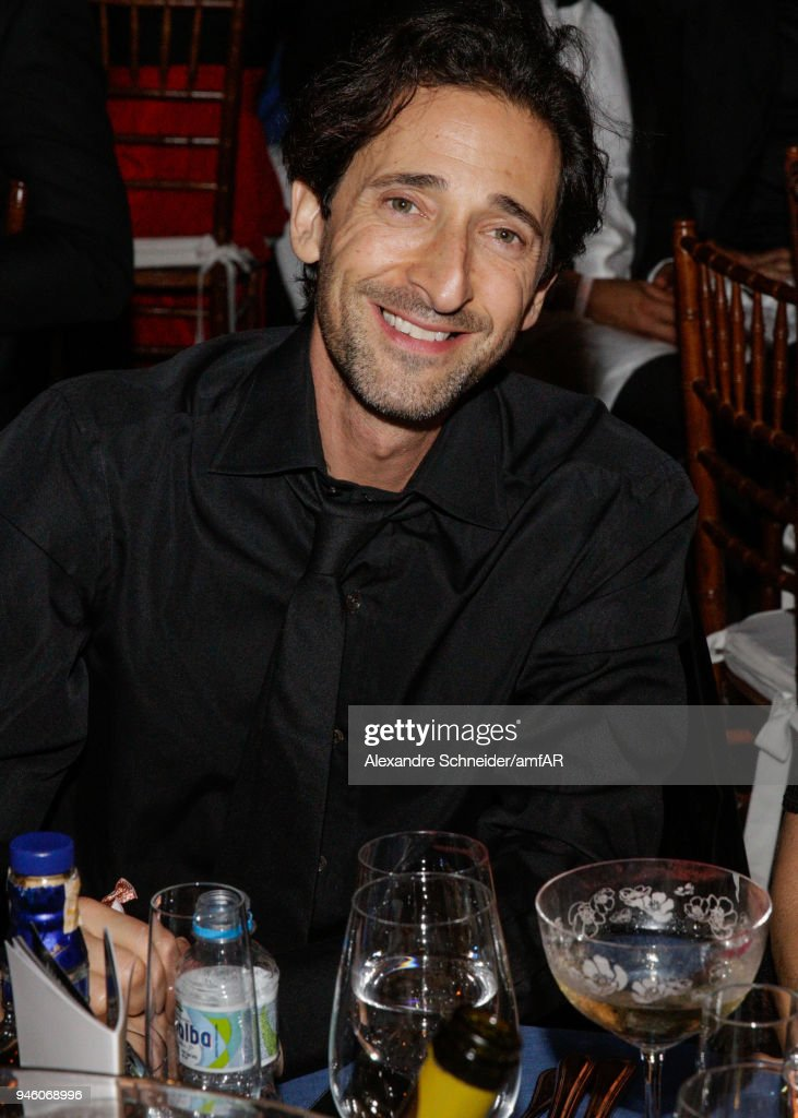Adrien Brody attends the 2018 amfAR gala Sao Paulo at the home of Dinho Diniz on April 13, 2018 in Sao Paulo, Brazil.