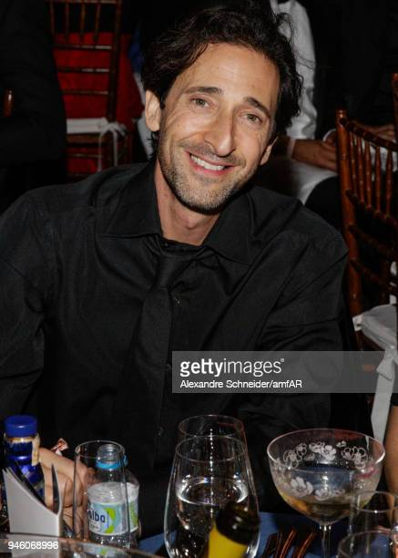Adrien Brody attends the 2018 amfAR gala Sao Paulo at the home of Dinho Diniz on April 13 2018 in Sao Paulo Brazil