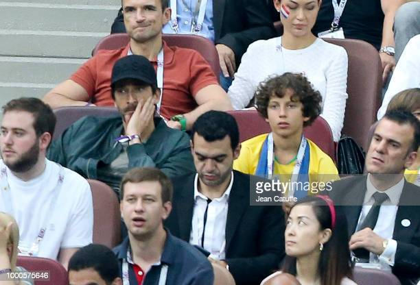 Adrien Brody attends the 2018 FIFA World Cup Russia Final match between France and Croatia at Luzhniki Stadium on July 15 2018 in Moscow Russia