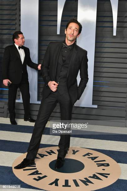 Adrien Brody attends the 2018 Vanity Fair Oscar Party hosted by Radhika Jones at Wallis Annenberg Center for the Performing Arts on March 4 2018 in...