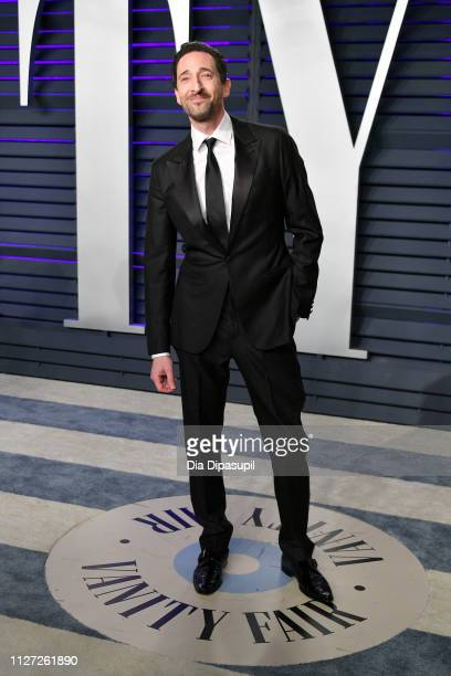 Adrien Brody attends the 2019 Vanity Fair Oscar Party hosted by Radhika Jones at Wallis Annenberg Center for the Performing Arts on February 24, 2019...