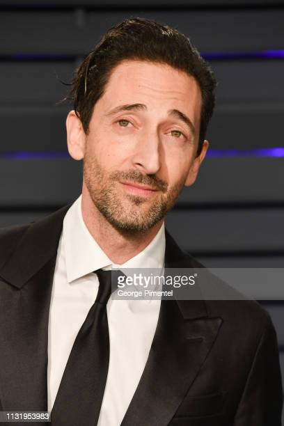 Adrien Brody attends the 2019 Vanity Fair Oscar Party hosted by Radhika Jones at Wallis Annenberg Center for the Performing Arts on February 24 2019...