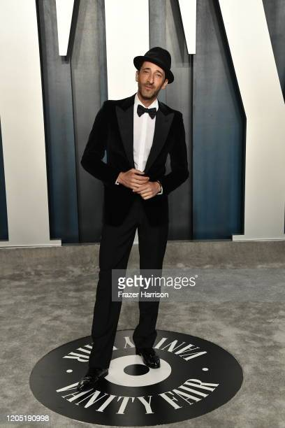 Adrien Brody attends the 2020 Vanity Fair Oscar Party hosted by Radhika Jones at Wallis Annenberg Center for the Performing Arts on February 09 2020...