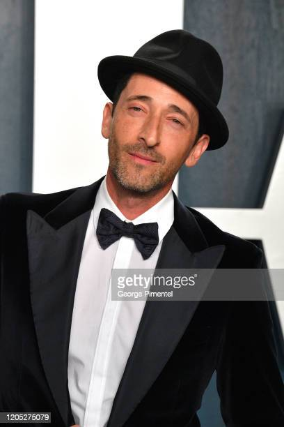 Adrien Brody attends the 2020 Vanity Fair Oscar party hosted by Radhika Jones at Wallis Annenberg Center for the Performing Arts on February 09, 2020...